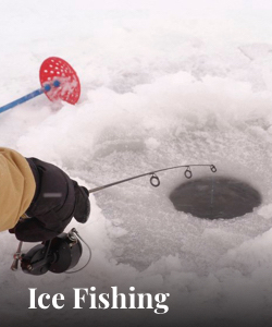 Ice Fishing near Superior Stay Hotel Marquette MI